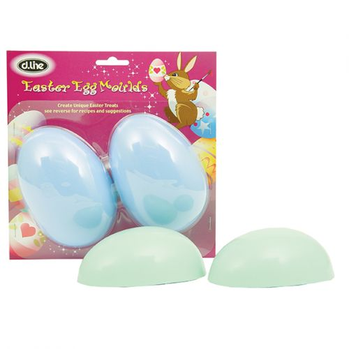 D.LINE LARGE PLAIN EGG MOULD SET 2 - ASST. COLOURS