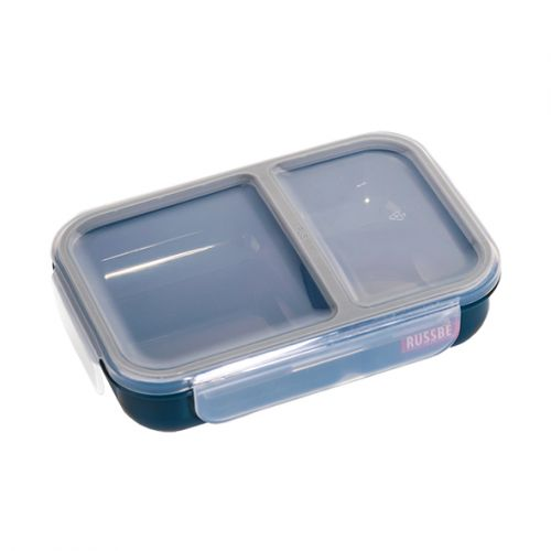"RUSSBE ""INNER SEAL"" 2 COMPARTMENT LUNCH BENTO 680ML - NAVY"
