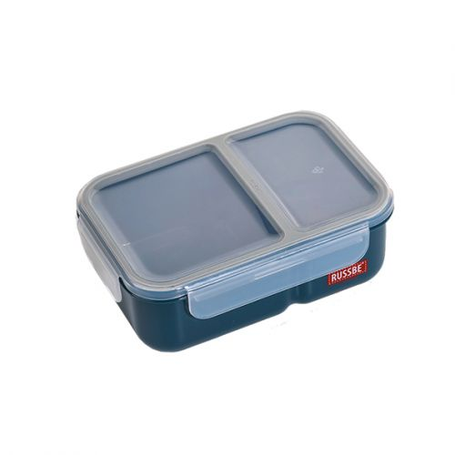 "RUSSBE ""INNER SEAL"" 2 COMPARTMENT LUNCH BENTO 1.1L - NAVY"