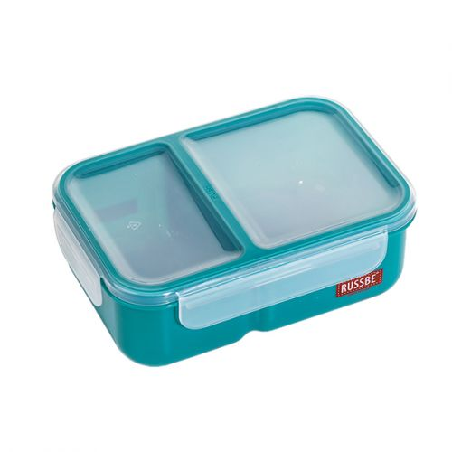 "RUSSBE ""INNER SEAL"" 2 COMPARTMENT LUNCH BENTO 1.1L - TEAL"