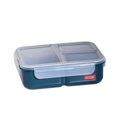 "RUSSBE ""INNER SEAL"" 3 COMPARTMENT LUNCH BENTO 1.6L - NAVY"