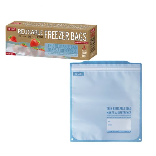 RUSSBE FREEZER BAGS 3.8L PACK 8 - BLUE STATEMENT