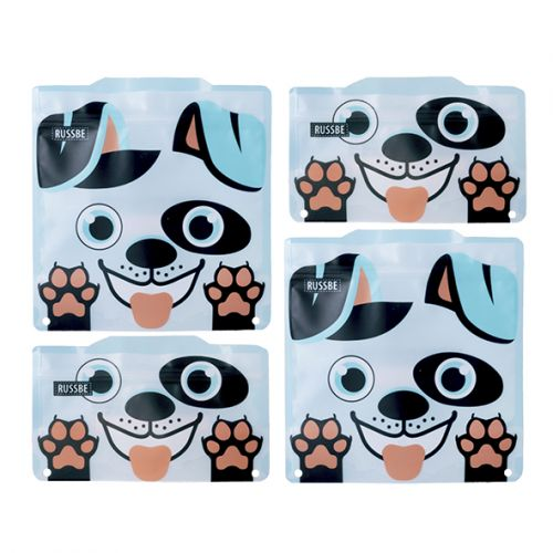 RUSSBE SNACK/SANDWICH BAGS SET 4 - DOG
