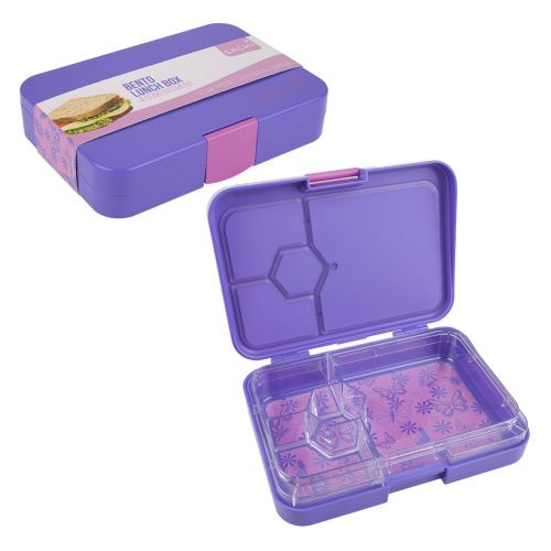 SACHI 4 COMPARTMENT BENTO LUNCH BOX - BUTTERFLIES