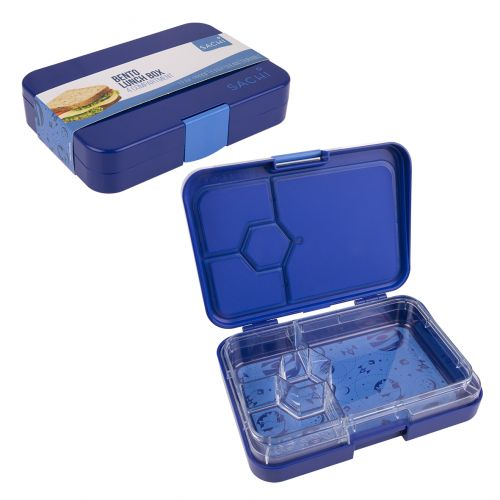 SACHI 4 COMPARTMENT BENTO LUNCH BOX - OUTER SPACE