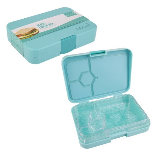 SACHI 4 COMPARTMENT BENTO LUNCH BOX - TROPICAL PARADISE