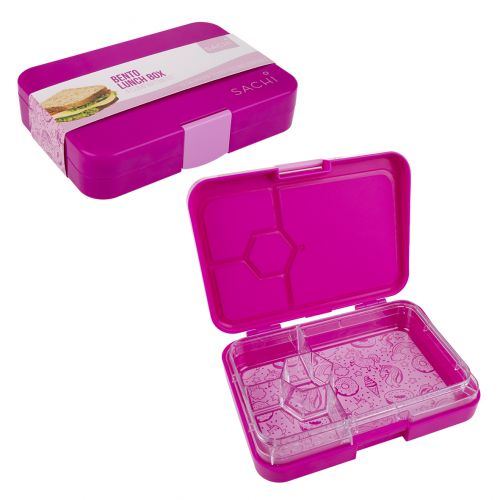 SACHI 4 COMPARTMENT BENTO LUNCH BOX - UNICORNS
