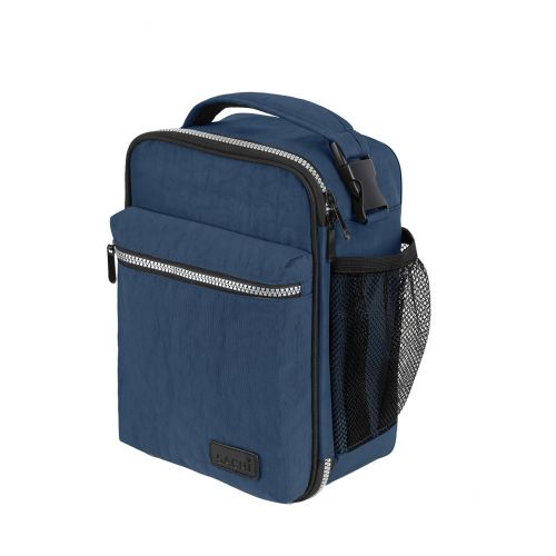 """SACHI """"EXPLORER"""" INSULATED LUNCH BAG - NAVY"""