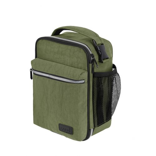 """SACHI """"EXPLORER"""" INSULATED LUNCH BAG - OLIVE"""