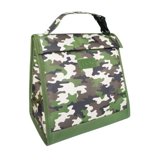 "SACHI ""STYLE 226"" INSULATED JUNIOR LUNCH POUCH - CAMO GREEN"