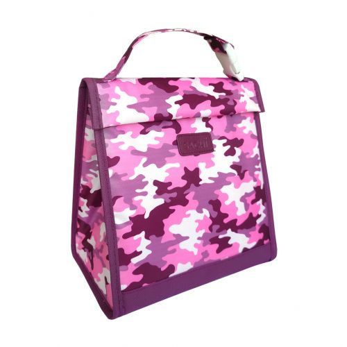 SACHI STYLE 226 INSULATED JUNIOR LUNCH POUCH - CAMO PINK