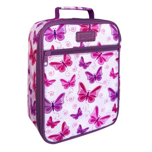 "SACHI ""STYLE 225"" INSULATED JUNIOR LUNCH TOTE - BUTTERFLIES"