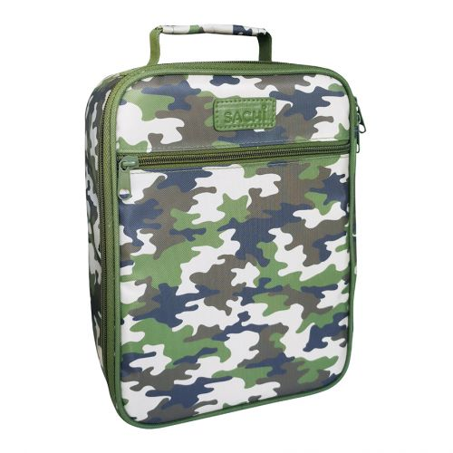 "SACHI ""STYLE 225"" INSULATED JUNIOR LUNCH TOTE - CAMO GREEN"