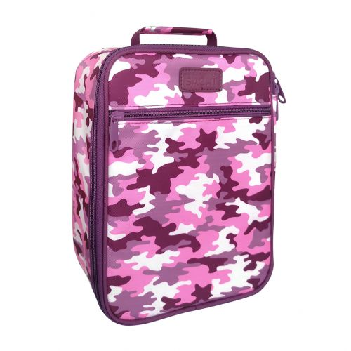 "SACHI ""STYLE 225"" INSULATED JUNIOR LUNCH TOTE - CAMO PINK"