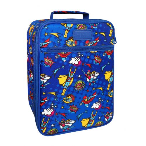 """SACHI """"STYLE 225"""" INSULATED JUNIOR LUNCH TOTE - SUPER HEROES"""
