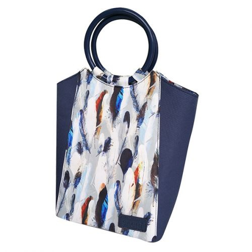 """SACHI """"STYLE 229"""" INSULATED LUNCH BAG - FEATHERS"""
