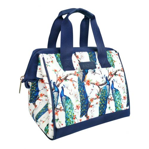 """SACHI """"STYLE 34"""" INSULATED LUNCH BAG - PEACOCKS"""