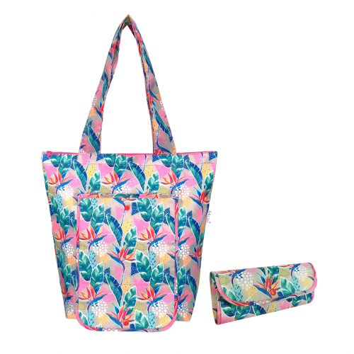 SACHI INSULATED MARKET TOTE - BOTANICAL
