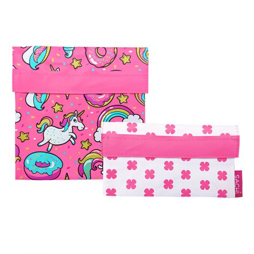 SACHI LUNCH POCKETS SET 2 - UNICORNS