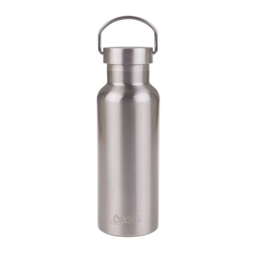 OASIS ALL STAINLESS STEEL DOUBLE WALL INSULATED DRINK BOTTLE 500ML - SILVER