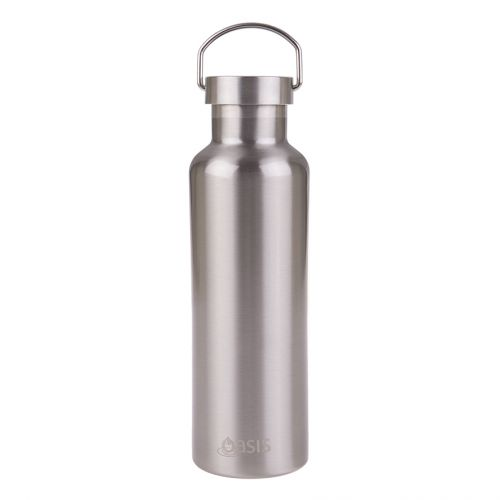 OASIS ALL STAINLESS STEEL DOUBLE WALL INSULATED DRINK BOTTLE 750ML - SILVER