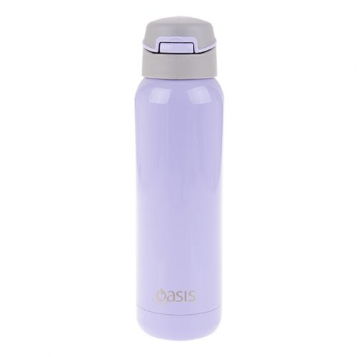OASIS S/S INSULATED SPORTS BOTTLE W/ STRAW 500ML - LILAC
