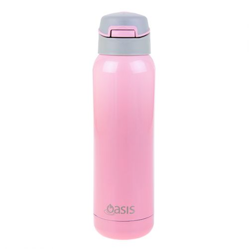 OASIS S/S INSULATED SPORTS BOTTLE W/ STRAW 500ML - SOFT PINK