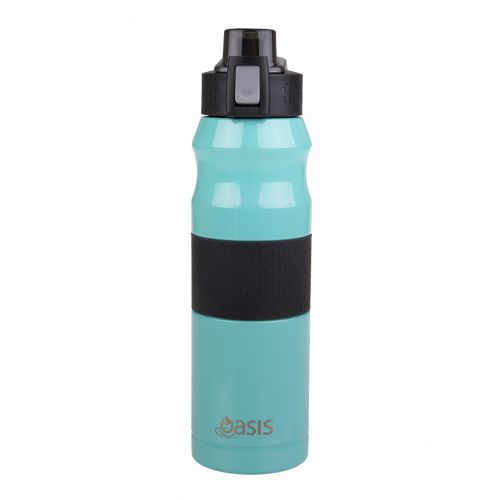 OASIS STAINLESS STEEL DOUBLE WALL INSULATED FLIP-TOP SPORTS BOTTLE 600ML - SPEARMINT