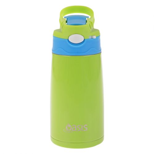 OASIS KID'S S/S INSULATED DRINK BOTTLE 350ML - GREEN/BLUE