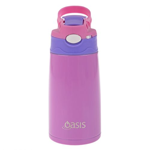OASIS KID'S S/S INSULATED DRINK BOTTLE 350ML - PINK/PURPLE
