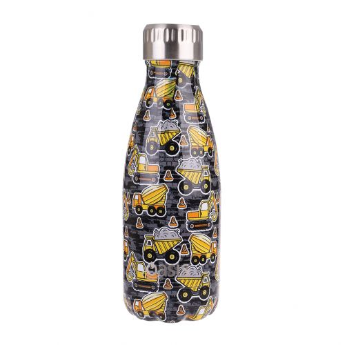 OASIS STAINLESS STEEL DOUBLE WALL INSULATED DRINK BOTTLE 350ML - CONSTRUCTION ZONE