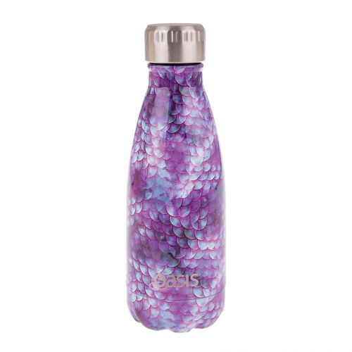 OASIS S/S DOUBLE WALL INSULATED DRINK BOTTLE 350ML - DRAGON SCALES
