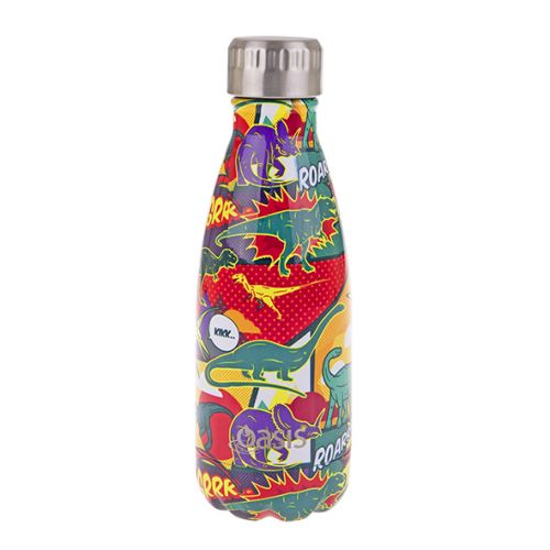 OASIS S/S DOUBLE WALL INSULATED DRINK BOTTLE 350ML - DINOSAURS