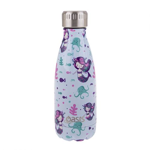 OASIS S/S DOUBLE WALL INSULATED DRINK BOTTLE 350ML - MERMAIDS