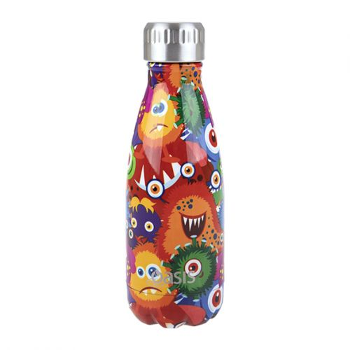 OASIS S/S DOUBLE WALL INSULATED DRINK BOTTLE 350ML - MONSTERS