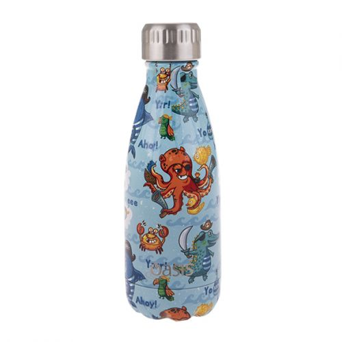 OASIS S/S DOUBLE WALL INSULATED DRINK BOTTLE 350ML - PIRATE BAY
