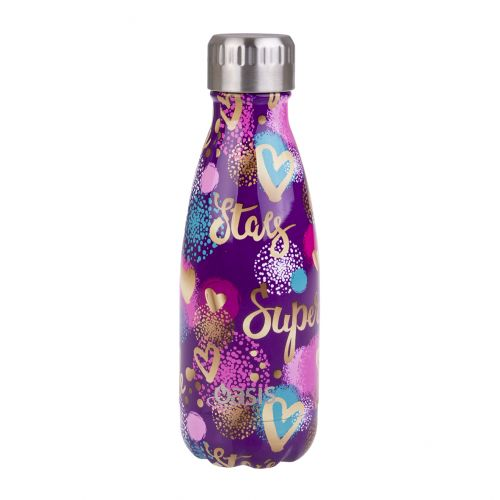 OASIS STAINLESS STEEL DOUBLE WALL INSULATED DRINK BOTTLE 350ML - SUPER STAR