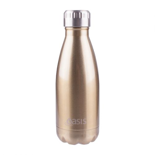 OASIS S/S DOUBLE WALL INSULATED DRINK BOTTLE 350ML - CHAMPAGNE
