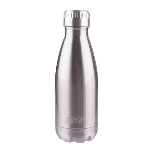 OASIS STAINLESS STEEL DOUBLE WALL INSULATED DRINK BOTTLE 350ML - SILVER