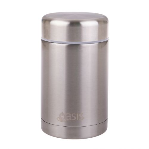 OASIS STAINLESS STEEL DOUBLE WALL INSULATED FOOD FLASK 450ML - SILVER