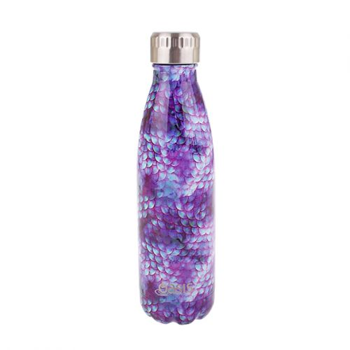 OASIS STAINLESS STEEL DOUBLE WALL INSULATED DRINK BOTTLE 500ML - DRAGON SCALES