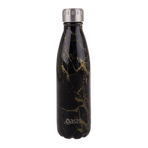 OASIS S/S DOUBLE WALL INSULATED DRINK BOTTLE 500ML - GOLD ONYX