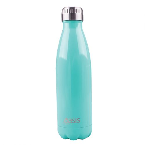 OASIS STAINLESS STEEL DOUBLE WALL INSULATED DRINK BOTTLE 500ML - SPEARMINT