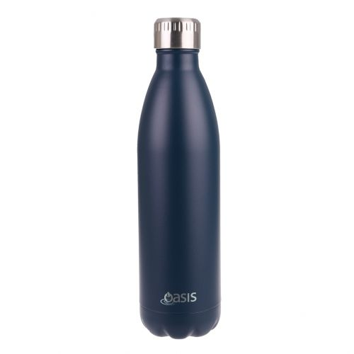 OASIS STAINLESS STEEL DOUBLE WALL INSULATED DRINK BOTTLE 750ML - MATTE NAVY