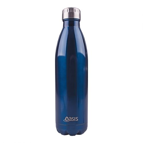OASIS STAINLESS STEEL DOUBLE WALL INSULATED DRINK BOTTLE 750ML - NAVY