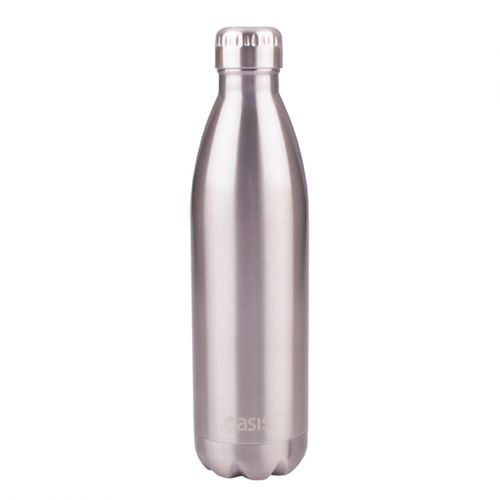 OASIS STAINLESS STEEL DOUBLE WALL INSULATED DRINK BOTTLE 750ML - SILVER