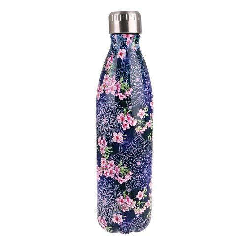 OASIS STAINLESS STEEL DOUBLE WALL INSULATED DRINK BOTTLE 750ML - FLORAL MANDELA