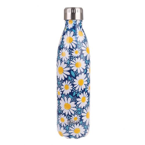 OASIS STAINLESS STEEL DOUBLE WALL INSULATED DRINK BOTTLE 750ML - SUMMER DAISY