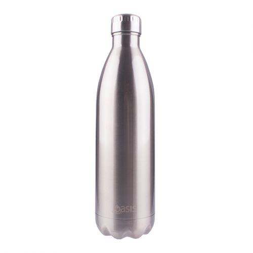 OASIS STAINLESS STEEL DOUBLE WALL INSULATED DRINK BOTTLE 1L - SILVER