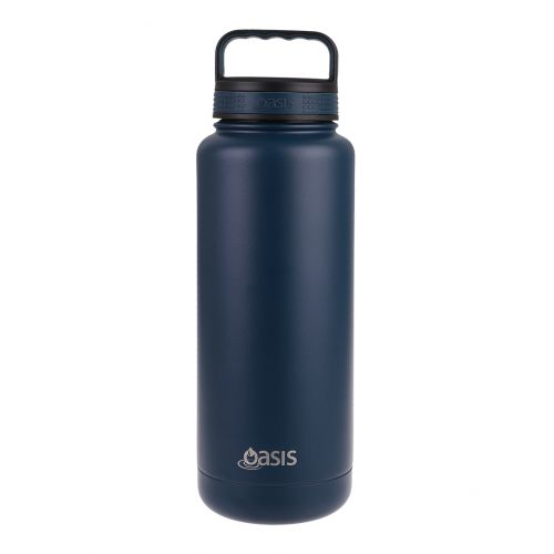 """OASIS STAINLESS STEEL DOUBLE WALL INSULATED """"TITAN"""" BOTTLE 1.2L - NAVY"""